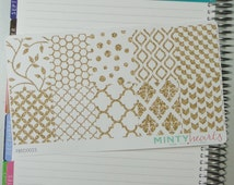 FBED0023 // Gold Sparkle Full Box Planner Stickers