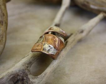 "Bronze and silver ring ""Bronzello""-silver"