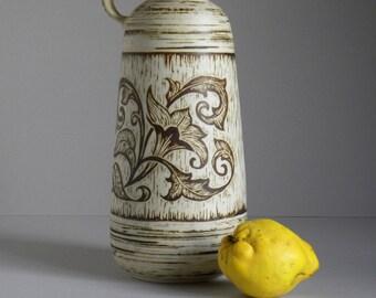Vintage 60's-70's Ü-KERAMIK UEBELACKER Large Jug Vase Design 1529-36, West Germany Art Pottery Mid Century Fat Lava Era