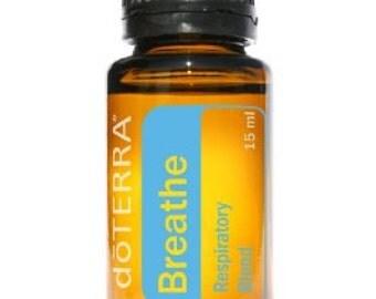 doTerra Breathe Blended Essential Oil 15 ML New Allergies Easy Breathing Natural Health