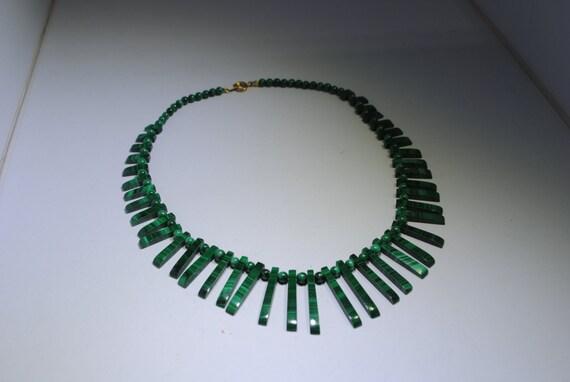Malachite egyptian necklace vintage