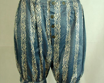 Womens satin shorts bohemian lolita bloomers upcycled uk size 8 10 12