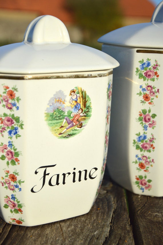 french kitchen canister set vintage french kitchen storage vintage french enamel kitchen canisters s 6 chairish