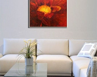 Abstract Wall Art, Abstract Painting, Flower Painting, Canvas Art, Painting of Flowers, Painting Flowers, Flower Artwork, Living Room Decor