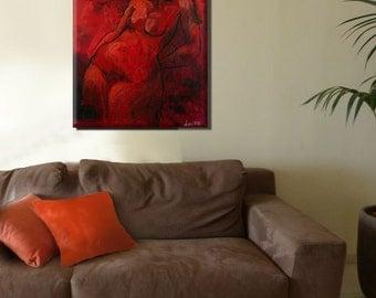 Abstract Wall Art, Abstract Modern Art, Figure Art, Erotic Print, Figurative Art, Female Figure, Figure Painting, figurative painting