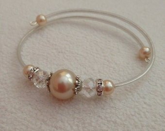 Pearl and AB Crystal bracelet
