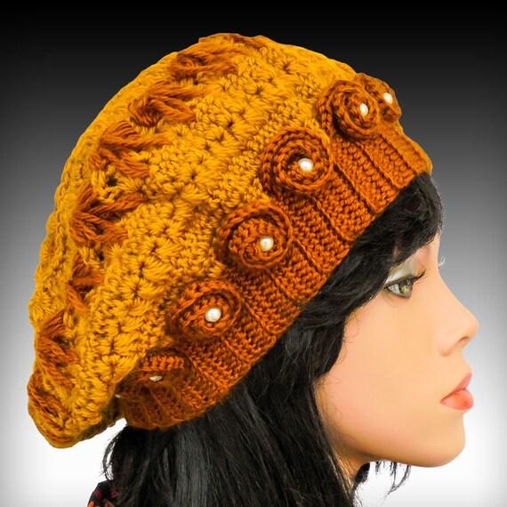 articles similaires chapeau au crochet avec une fleur au crochet mod le de chapeau bonnet. Black Bedroom Furniture Sets. Home Design Ideas