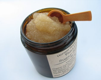 Vanilla Organic Sugar Scrub - Organic Body Scrub - Essential Oil - 4.5 oz Sugar Scrub- All Natural Sugar Scrub - Natural Body Scrub