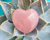 Rose Quartz Hearts infused with Love and Reiki/ Healing Crystals and Stones
