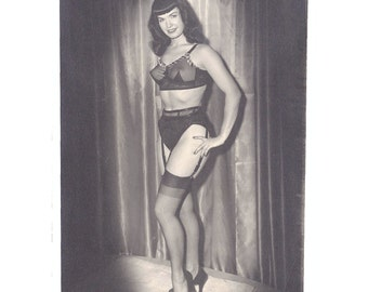 Very Rare Vintage Bettie Page Photograph