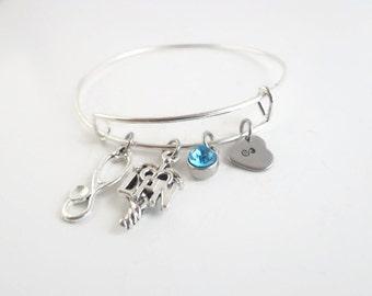 LPN Bracelet Gift , LPN Personalized Initial Stethoscope Charm Bracelet  Gift for Nurse Nursing Student Nurse Graduation Nurse Retirement