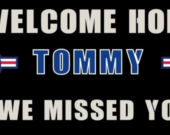 Welcome Home - Banner - Air Force - Customized