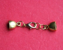 2 sets of gold cord ends, gold clasp (G1)