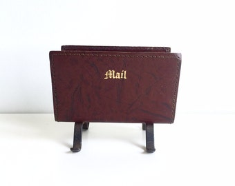 Charming Leather Mail Organizer