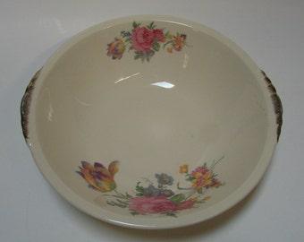Paden City Pottery Rosalee Pattern Serving Bowl