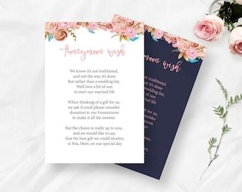 Wedding Gift Wishes : ... Wedding Decor,Wishing well Card, Rustic Wedding, Wedding Gift -Instant