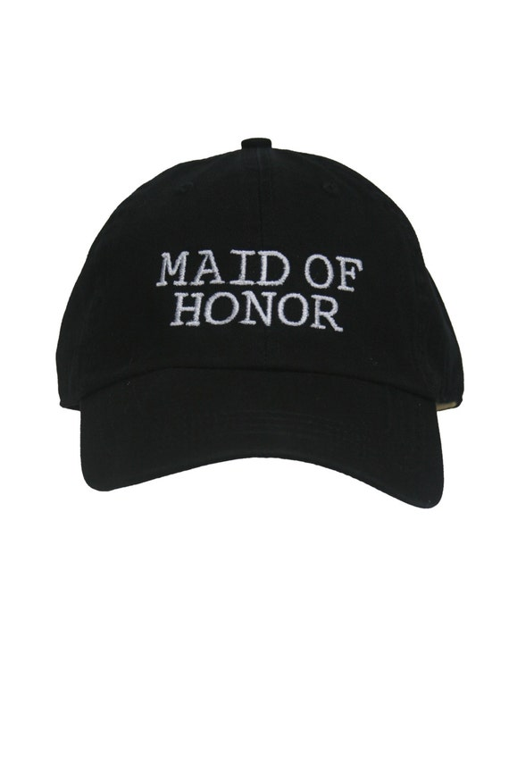 Maid of Honor - Ball Cap (Black with White Stitching)