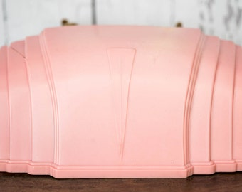 Vintage Art Deco Pink Bed Light - Headboard Reading Lamp - 1940's Pink Plastic Shabby Chic Lighting Bed Reading Lamp Light - Art Deco Decor