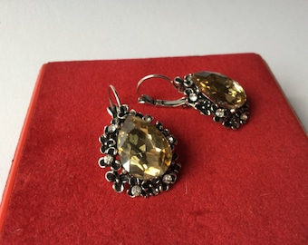 Victorian silver earring revival-Victorian revival Silver Earrings