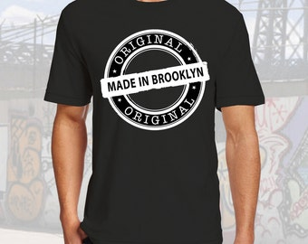 Original Made in Brooklyn Tshirt Black Cotton Crew Neck
