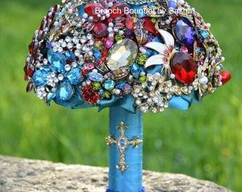 Nuptials bouquet, Turquoise bouquet, Bridal bouquet, Crystal bouquet, Red bouquet, Blue bouquet, Bridesmaids bouquet, Wedding bouquet, bride