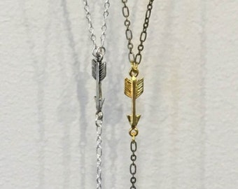 READY TO SHIP (silver/citrine) - Arrow Pendulum Necklace