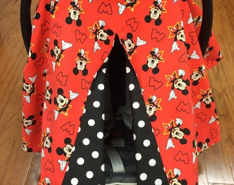 Mickey Polka Dot Car Seat Canopy