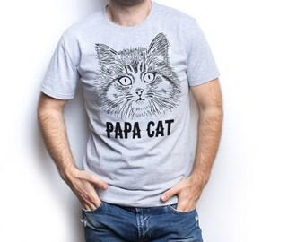Papa cat shirt new dad shirt new dad gift new dad t shirt new daddy shirt dad to be dad to be gift dad to be shirt Father gift Daddy gift