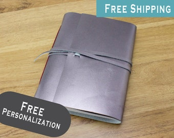 Personalized Leather Journal Sketchbook FREE Personalization and FREE Shipping #055
