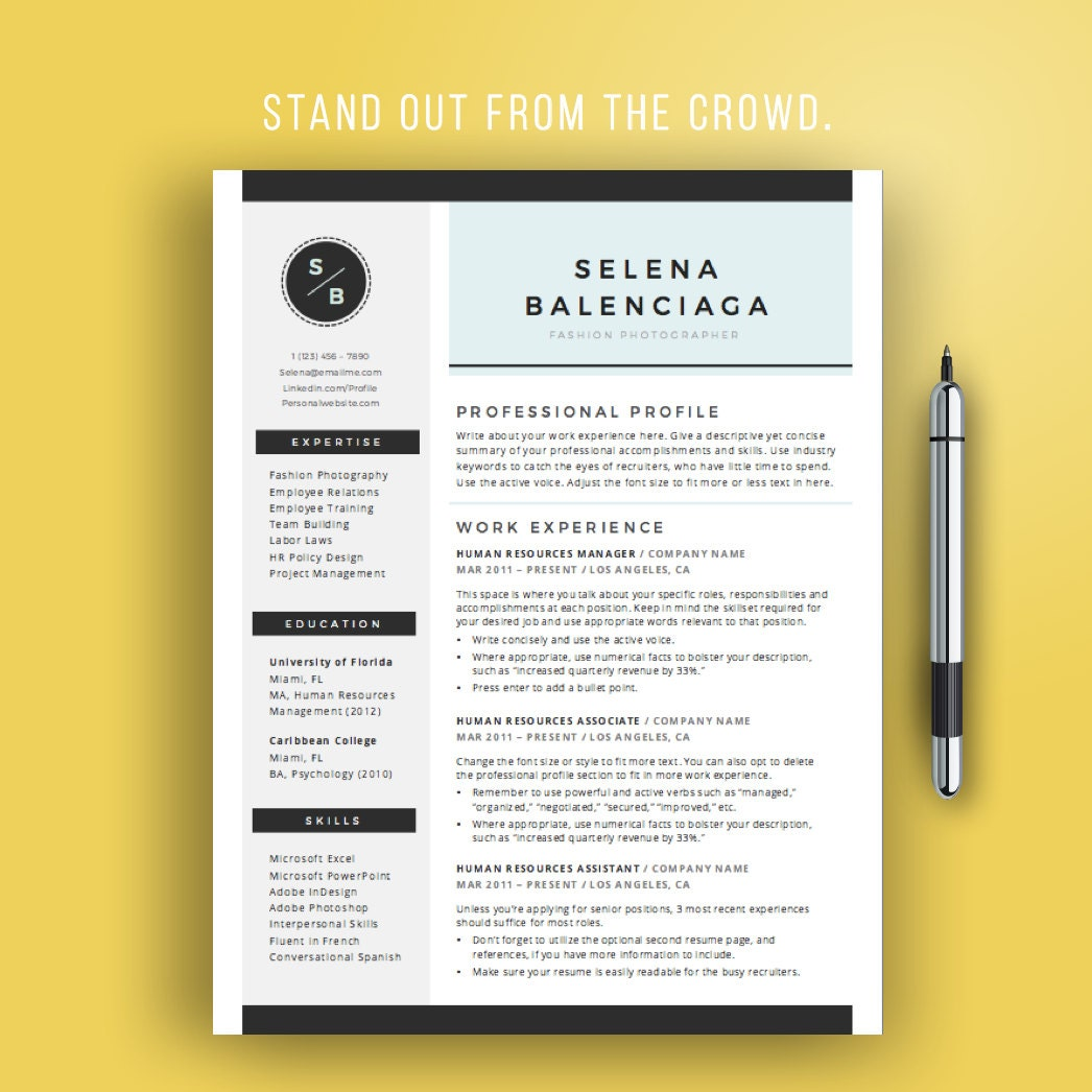 s resume creative resume template for word creative cv template modern creative resume design teacher mac or pc instant
