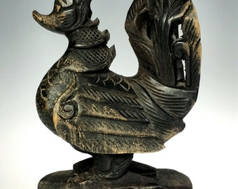 Hand Carved Wood Air Totem Bird Tribal Ethnic