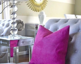 Fuschia Pillow Cover ( Insert not included )