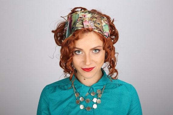 Wig Accessory/Headband For Jewish Woman's Wig/Religious Head Cover/Mitpachat Tichel/Dressy Elegant Fashion Hair Band/Geometric Peacock Print