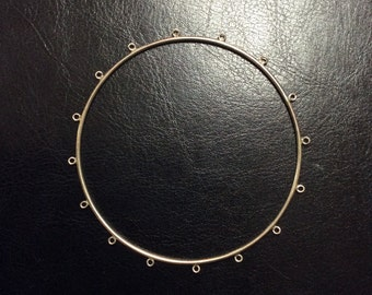 Sterling Silver Bangle, 2mm, 12g, 16 loops, 9 inches, 2 3/4 diameter
