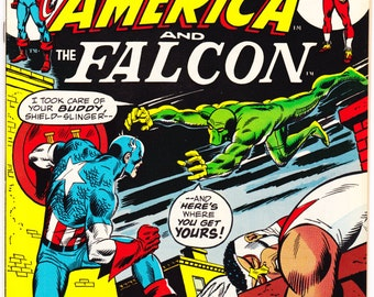 Captain America and the Falcon 157, comic book, Bronze Age, Buscema art, Gerber script, Vintage Superhero. 1973 Marvel Comics in VF (8.0)