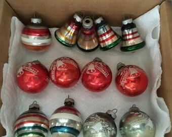 Vintage Shiny Brite Christmas Ornament Bulbs (13)