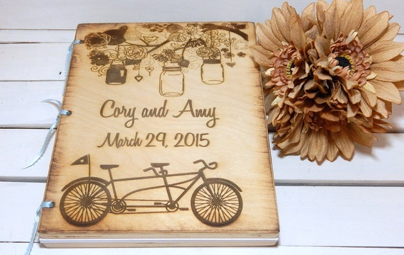 Wedding Gift List Evening Guests : ... Guest Books, Bride and Groom, Rustic Wedding, Wedding Shower Gift