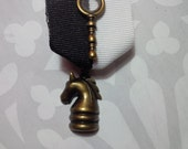 Sale Item! The Great Game - Sherlock Holmes Inspired Medal with Brass Magnifying Glass and Knight Chess Piece Pendant