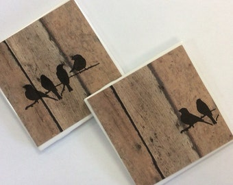 Rustic Wood Coasters - Rustic Wood Grain Coasters- Table Coasters On Sale