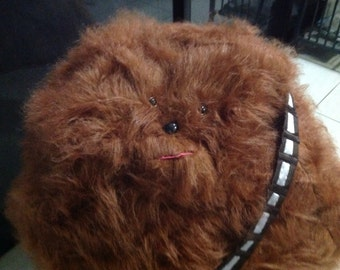 Bean bag,Chewbacca faux fur bean bag, by curvaciousyouclaire, gaming chair, movies , kids rumpus room, with handle for hanging,