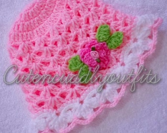 Baby hat, Crochet baby hat, baby hats, pink baby hat, baby shower, baby hat for girls, baby hat crochet, pink baby hats, winter baby hats