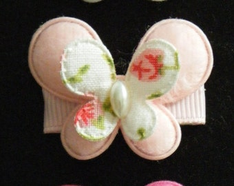 Baby/Toddler/Child Butterfly Snap Hair Clip - 30 mm - 3 cm - Pink