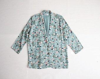 floral blazer / oversized blazer / floral jacket
