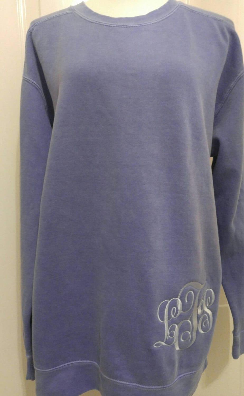 comfort colors monogrammed sweatshirt monogrammed fleece