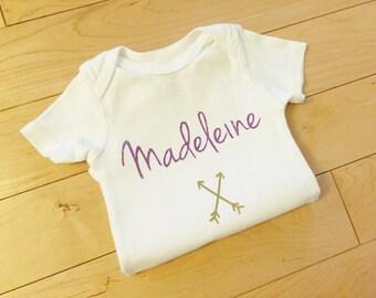First Birthday Onesie / Baby Name / Custom / Arrows Onesie / Personalized