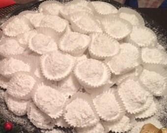 Dozen Kourabiedes - Greek Almond Butter Cookies