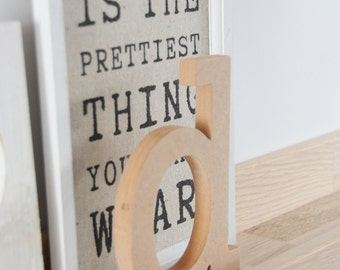 "Standing wooden letter, 10cm/4"", MDF lowercase letter, unfinished craft letters // Perfect for decoupage or paint"