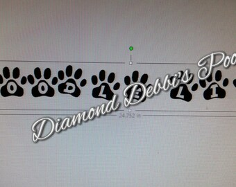 Poodle Limo Decal  3x25