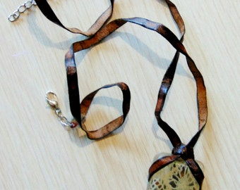 Leather and Lace Pendant