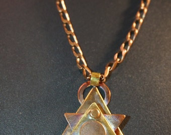 Industrial & Steampunk Jewish Star Pendant Necklace
